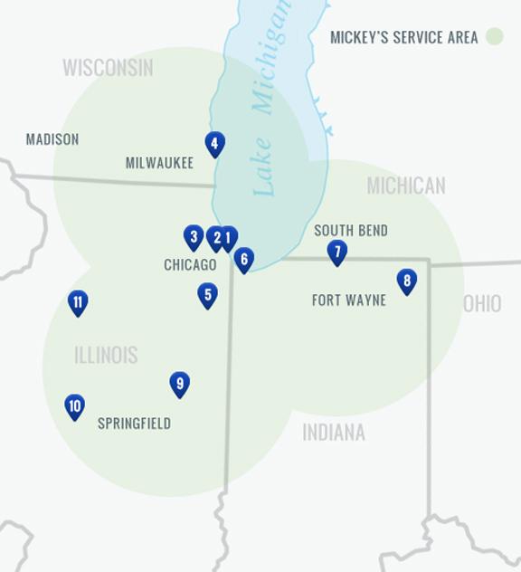 Mickey\'s Linen Locations: Restaurant Linen & Uniform Rentals in ...